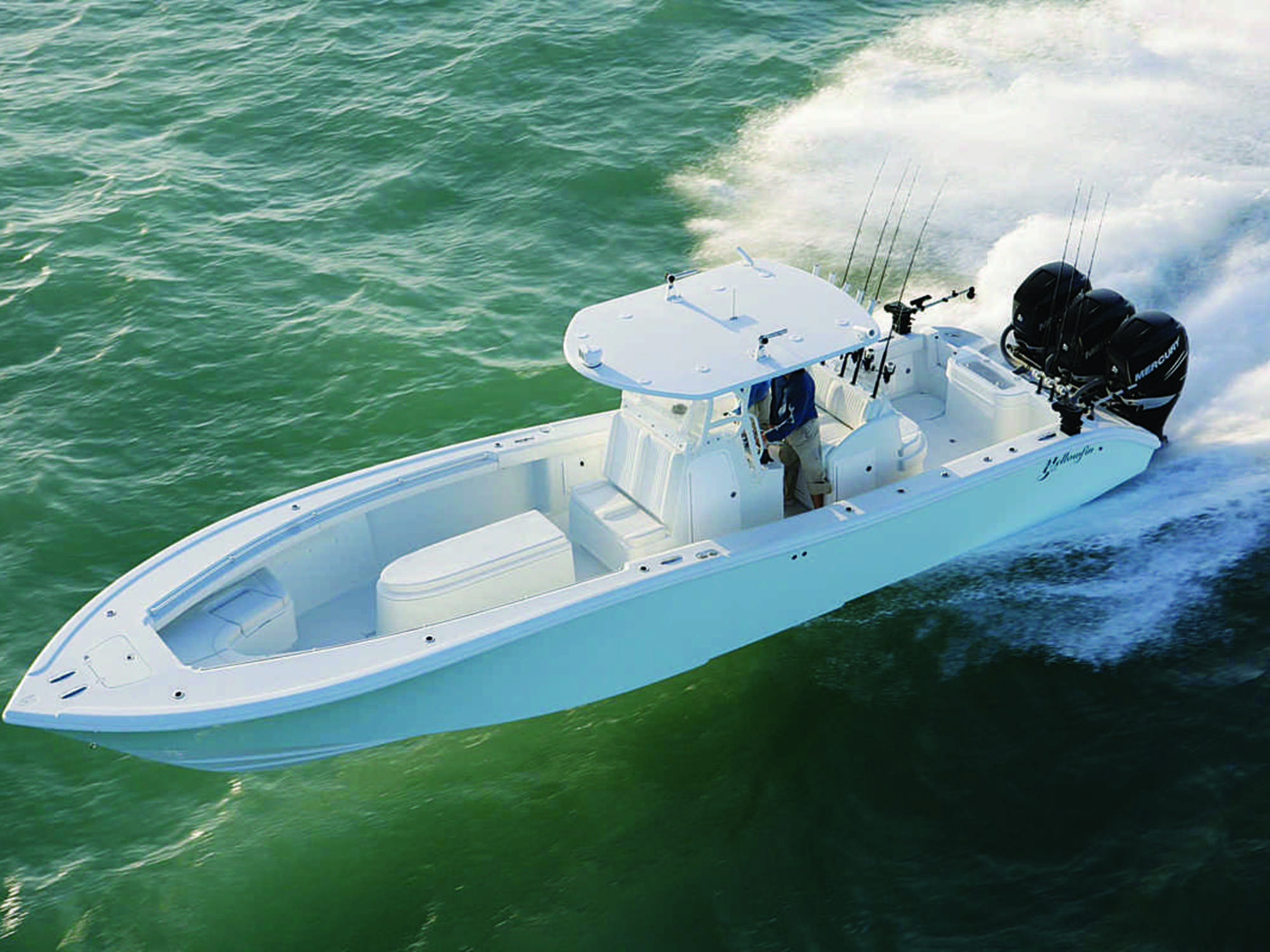 Dream catcher charters is getting a new yellowfin 36 for Fin for boat motor