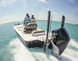 Yellowfin 24 Carbon Elite bay boat powered by Mercury V8 Fourstroke Verado.
