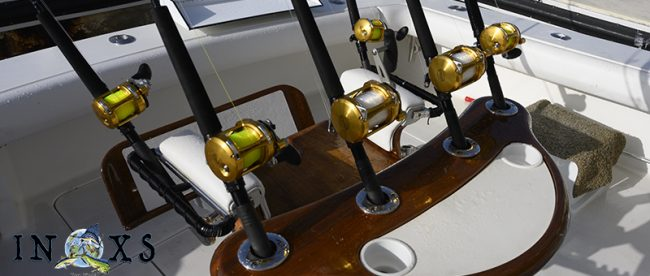 rods, reels fighting chair