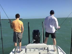 Bay boat fishing