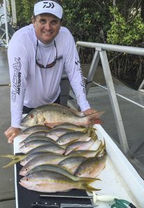 reef fishing mutton snappers and yellowtail snappers with Capt. Steven Lamp