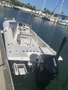 Mercury fourstroke 225 on the transom