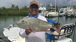 large mutton snapper held up in Key West